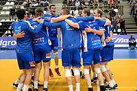 GRONINGEN - Volleybal, Abiant Lycurgus - Orion, Martiniplaza, Supercup , seizoen 2017-2018, 01-10-2017,  Lycurgus viert feest na het laatste punt