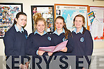 Pupils from Presentation Convent,Castleisland,chat outside the examination room,after completing English paper 1 in this years leaving cert 2013,last Wednesday June 5th,L-R Louise O'Mahony,Aisling Kirwan,Marie Brosnan&Aisling McCarthy.