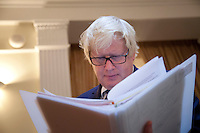 OCTOBER 15, 2015 -TOKYO, JAPAN:  London Mayor, Boris Johnson at an event at the British Embassy in Tokyo, to encourage collaboration between London and Japan in financial technology.  (Photo / Ko Sasaki  )