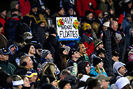 PHILADELPHIA, PA - DEC 8, 2018: A fan holds up a sign during game between Army and Navy at Lincoln Financial Field in Philadelphia, PA. Army defeated Navy 17-10 to win the Commander in Chief Cup. (Photo by Phil Peters/Media Images International)