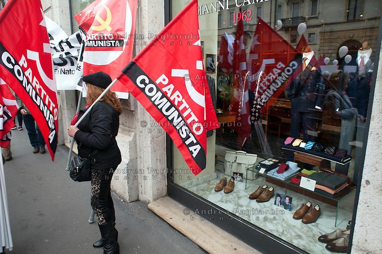 Milano: sciopero generale dei metalmeccanici Fiom e CGIL<br /> Milan: general strike of metal workers