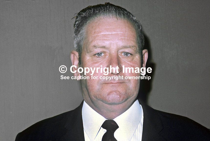 George Green, candidate, Vanguard Unionist Progressive Party, in 1973 N Ireland Assembly Election. 197306000456b.<br />