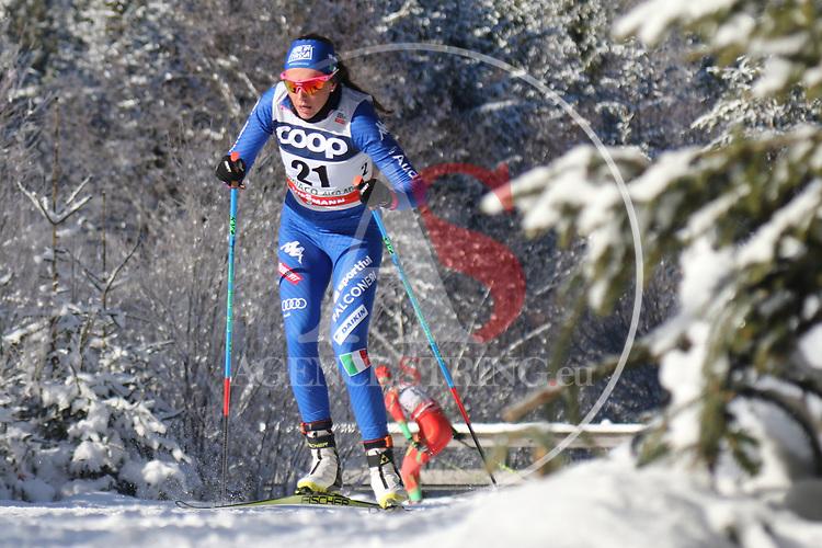 Cross Country Ski World Cup 2018 FIS in Dobbiaco, Toblach, on December 16, 2017; Ladies 10 Km Interval Start Free technique ; Caterina ganz (ITA)<br /> &copy; Pierre Teyssot / Pentaphoto