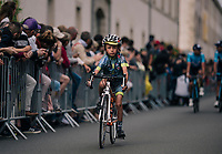 promising young escort at the Team presentation in La Roche-sur-Yon<br /> <br /> Le Grand Départ 2018<br /> 105th Tour de France 2018<br /> ©kramon