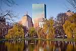 Back Bay skyline from Boston Public Garden, Boston, MA