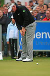 Darren Clarke (NIR) sinks his birdie putt on the 11th green during Day 3 of the BMW PGA Championship Championship at, Wentworth Club, Surrey, England, 28th May 2011. (Photo Eoin Clarke/Golffile 2011)