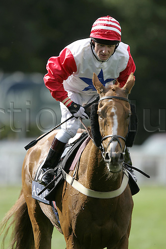 15 June 2004: Jockey KEVIN DARLEY on HAWADETH before the Ascot Stakes at Royal Ascot. Photo: Chris Brown/Action Plus...horse racing 040615 jockeys