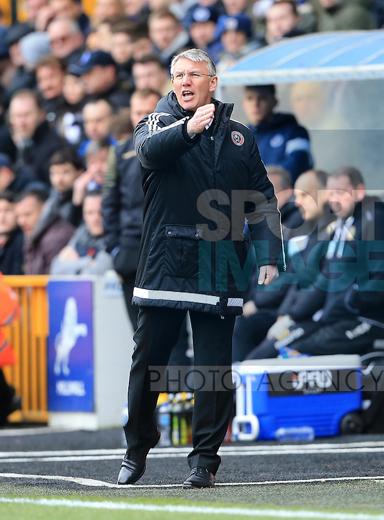 Sheffield United's Nigel Adkins in action during the League One match at The Den.  Photo credit should read: David Klein/Sportimage