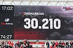 11.05.2019, BayArena, Leverkusen, GER, 1. FBL, Bayer 04 Leverkusen vs. FC Schalke 04 ,<br />  <br /> DFL regulations prohibit any use of photographs as image sequences and/or quasi-video<br /> <br /> im Bild / picture shows: <br /> 30.2109 Zuschauer<br /> <br /> Foto &copy; nordphoto / Meuter