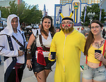 Don and Brandi Watanabe and Mathew and Andrea McGuffey during the Epic Crawl held in downtown Reno on Saturday night, June 3, 2017.