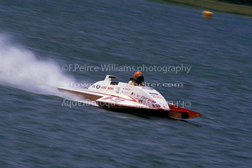 """Wheeler Baker, A-73 """"Baby Boss"""" Dayton 1989 (2.5 MOD class hydroplane(s)"""