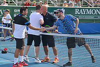 DELRAY BEACH, FL - NOVEMBER 05: Group shot participates in the 28th Annual Chris Evert/Raymond James Pro-Celebrity Tennis Classic at Delray Beach Tennis Center on November 5, 2017 in Delray Beach, Florida<br /> CAP/MPI122<br /> &copy;MPI122/Capital Pictures