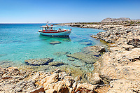 A fishing boat near Diakofti in Karpathos, Greece