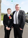 Cameron Fox from Callystown NS who received confirmation at St Michael's church Clogherhead pictured with sponsor Martin Leddy. Photo: Colin Bell/pressphotos.ie