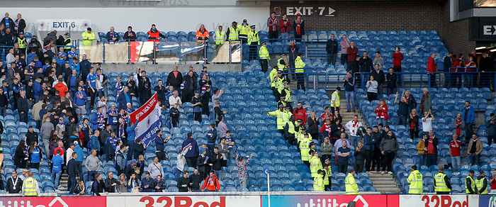 28.09.2018 Rangers v Aberdeen: Rangers fans with Ryan Jack Loyal flag
