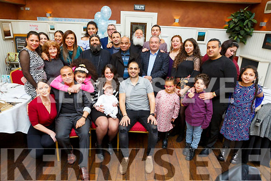 The christening party of baby Matthew Samy from Killeen Heights in O'Donnells Bar, Mounthawk on Saturday.<br /> Seated l to r: Mossen Samy, mom Youstina Eskandar, baby Matthew and dad Sherif Samy