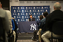 Derek Jeter (Yankees),<br /> APRIL 7, 2014 - MLB :<br /> Derek Jeter of the New York Yankees attends the press conference before the Yankees home opener against the Baltimore Orioles at Yankee Stadium in Bronx, New York, United States. (Photo by Thomas Anderson/AFLO) (JAPANESE NEWSPAPER OUT)
