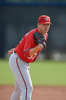 Washington Nationals pitcher Ben Braymer (67) doing pitching drills before a Minor League Spring Training game against the Miami Marlins on March 28, 2018 at FITTEAM Ballpark of the Palm Beaches in West Palm Beach, Florida.  (Mike Janes/Four Seam Images)