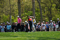 Cameron Champ (USA) on the 10th tee during the 3rd round at the PGA Championship 2019, Beth Page Black, New York, USA. 18/05/2019.<br /> Picture Fran Caffrey / Golffile.ie<br /> <br /> All photo usage must carry mandatory copyright credit (© Golffile | Fran Caffrey)