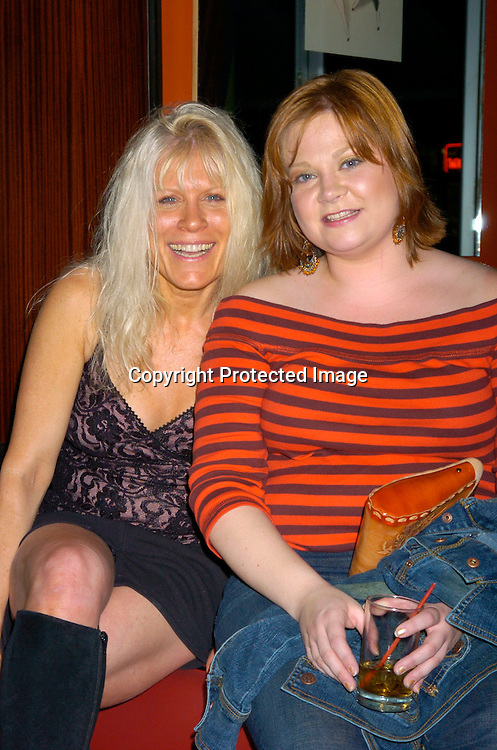 Ilene Kristen and Kathy Brier ..at Prohibition Night Club  for the Gabriel Project Benefit on June 5, 2004 in New York Citiy. The Gabriel Project provides heart surgery for children from developing countries.                                                                                Photo by Robin Platzer, Twin Images