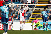 Penaly save by Goalkeeper Jamal Blackman of Wycombe Wanderers (on loan from Chelsea) during the Sky Bet League 2 match between Wycombe Wanderers and Cheltenham Town at Adams Park, High Wycombe, England on the 8th April 2017. Photo by Liam McAvoy.