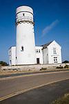 White historic lighthouse Hunstanton, Norfolk, England