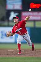 Lakewood BlueClaws starting pitcher JoJo Romero (6) in action against the Kannapolis Intimidators at Kannapolis Intimidators Stadium on April 6, 2017 in Kannapolis, North Carolina.  The BlueClaws defeated the Intimidators 7-5.  (Brian Westerholt/Four Seam Images)