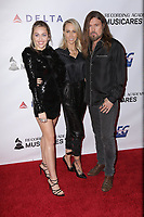 08 February 2019 - Westwood, California - Tish Cyrus, Billy Ray Cyrus, Miley Cyrus. MusiCares Person Of The Year Honoring Dolly Parton held at Los Angeles Convention Center. <br /> CAP/ADM/PMA<br /> ©PMA/ADM/Capital Pictures