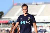 Cary, North Carolina  - Saturday August 05, 2017: Nora Holstad prior to a regular season National Women's Soccer League (NWSL) match between the North Carolina Courage and the Seattle Reign FC at Sahlen's Stadium at WakeMed Soccer Park. The Courage won the game 1-0.