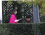 January 22nd 2013  <br /> <br /> Zooey Deschanel filming the tv show New Girl in Los Angeles wearing <br /> Zebra black white stripes shoes &amp; a pink maroon jacket coat <br /> <br /> <br /> AbilityFilms@yahoo.com<br /> 805-427-3519<br /> www.AbilityFilms.com