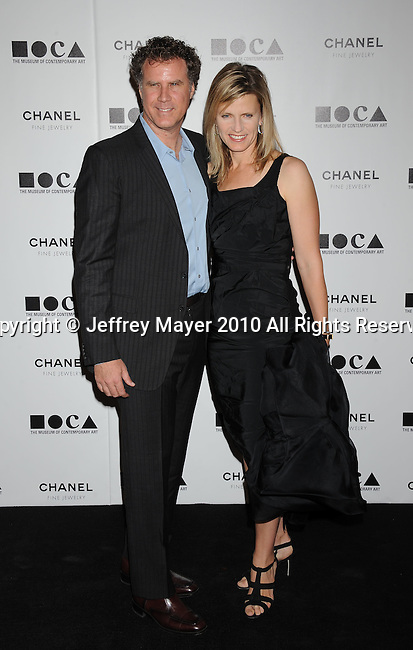 LOS ANGELES, CA. - November 13: Will Ferrell and wife Viveca Paulin arrive at MOCA Presents: Envisioned By Artist Doug Aitken at MOCA Grand Avenue on November 13, 2010 in Los Angeles, California.