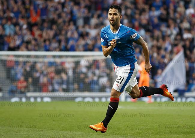 Daniel Candeias celebrates his goal