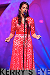 Luxembourg Rose, Nicola McEvoy singing 'La vie en Rose' during the Monday night Rose Selection at the Dome.