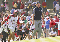 29 SEP 12 Brandt Snedeker and Scott Vail approach the 16th green during Saturdays foresome matches  at The 39th Ryder Cup at The Medinah Country Club in Medinah, Illinois.