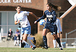 24 November 2007: Notre Dame's Courtney Rosen (14) and North Carolina's Yael Averbuch (17). The University of Notre Dame Fighting Irish defeated University of North Carolina Tar Heels 3-2 at Fetzer Field in Chapel Hill, North Carolina in a Third Round NCAA Division I Womens Soccer Tournament game.
