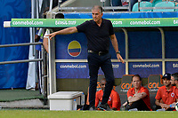 SALVADOR – BRASIL, 23-06-2019: Carlos Queiroz técnico de Colombia gesticula durante partido de la Copa América Brasil 2019, grupo B, entre Colombia y Paraguay jugado en el Arena Fonte Nova de Salvador, Brasil. / Carlos Queiroz coach of Colombia gestures during the Copa America Brazil 2019 group B match between Colombia and Paraguay played at Fonte Nova Arena in Salvador, Brazil. Photos: VizzorImage / Julian Medina / Cont /