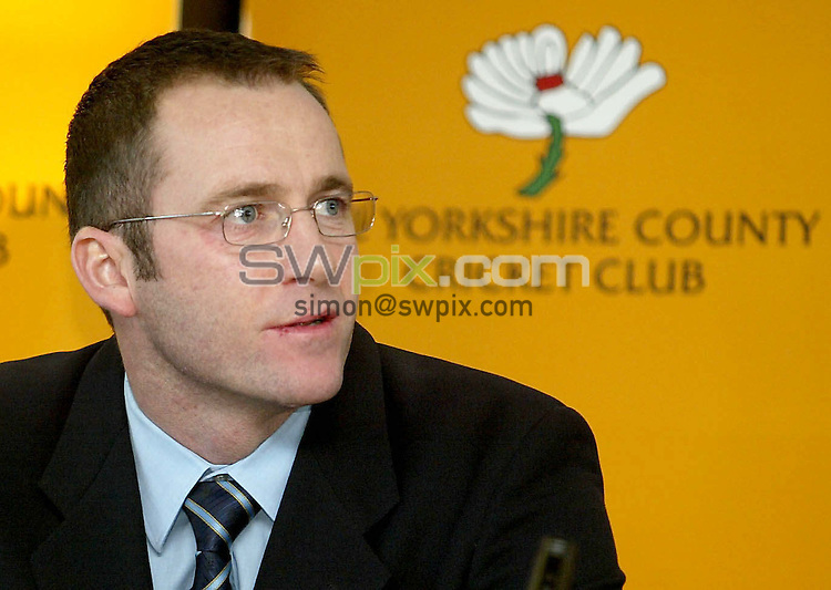 Pix: Ben Duffy/SWpix.com.....Yorkshire county cricket club unveil new captain....01/03/2004..Yorkshire Unveil Craig White as their new captain for the 2004 season..?COPYRIGHT PICTURE>>SIMON WILKINSON>>08700920092>>.