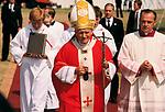Pope John Paul II 1982 papal visit to UK.Coventry UK 1980s.
