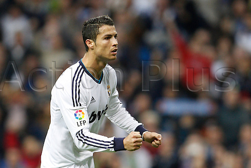 20.10.2012 Madrid, Spain.  La Liga football. Real Madrid CF vs  Celta (2-0) at Santiago Bernabeu stadium. The picture shows Cristiano Ronaldo (Portuguese forward of Real Madrid)