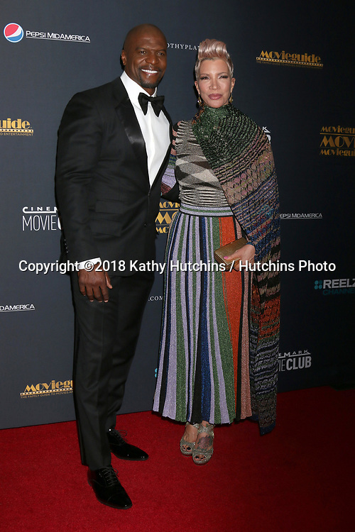 LOS ANGELES - FEB 2:  Terry Crews, Rebecca King-Crews at the 26th MovieGuide Awards at the Universal Hilton Hotel on February 2, 2018 in Universal City, CA