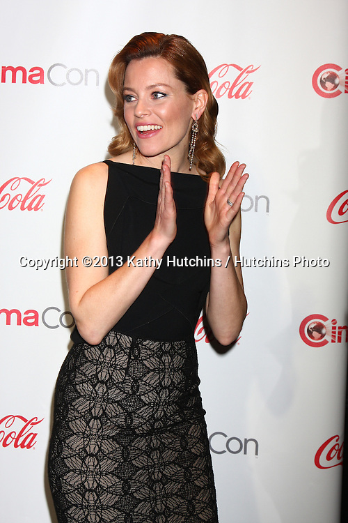 LAS VEGAS - APR 18:  Elizabeth Banks in the CinemaCon Big Scrren Achievement Awards  press room at the Caesars Palace on April 18, 2013 in Las Vegas, NV