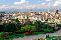 Italy,Florence. View of city skyline from Piazzale Michelangelo
