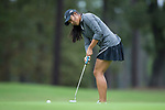 Mai Dechathipat of the Wake Forest Demon Deacons putts the ball on the fourth green during second round action at the Ruth's Chris Tar Heel Invitational on October 14, 2017 in Chapel Hill, North Carolina. (Brian Westerholt/Sports On Film)
