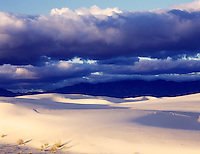 Stormy dawn at White Sands, New Mexico.
