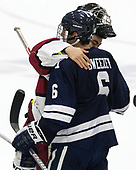 Sihak Lee (Harvard - 1), Billy Sweezey (Yale - 6) - The Harvard University Crimson tied the visiting Yale University Bulldogs 1-1 on Saturday, January 21, 2017, at the Bright-Landry Hockey Center in Boston, Massachusetts.