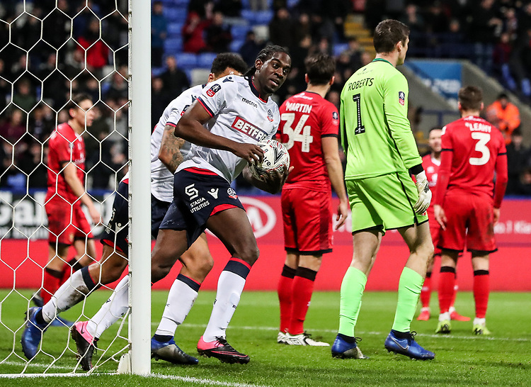 Bolton Wanderers' Clayton Donaldson celebrates scoring his side's first goal <br /> <br /> Photographer Andrew Kearns/CameraSport<br /> <br /> Emirates FA Cup Third Round - Bolton Wanderers v Walsall - Saturday 5th January 2019 - University of Bolton Stadium - Bolton<br />  <br /> World Copyright © 2019 CameraSport. All rights reserved. 43 Linden Ave. Countesthorpe. Leicester. England. LE8 5PG - Tel: +44 (0) 116 277 4147 - admin@camerasport.com - www.camerasport.com