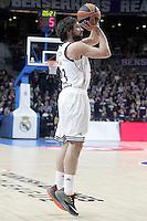 Real Madrid's Sergio Llull during Euroleague match.January 22,2015. (ALTERPHOTOS/Acero) /NortePhoto<br /> NortePhoto.com