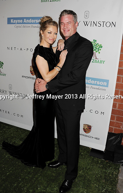 CULVER CITY, CA- NOVEMBER 09: Actress Rebecca Gayheart (L) and actor/husband Eric Dane arrive at the 2nd Annual Baby2Baby Gala at The Book Bindery on November 9, 2013 in Culver City, California.