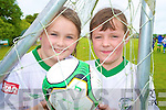 Enjoying the FAI soccer camp in Mastergeeha, Killarney on Friday were Shannon Gleeson and Katie O'Leary.