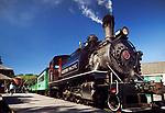 Alberni Pacific Railway historic steam engine at Port Alberni train station, Alberni Valley, Vancouver Island, British Columbia, Canada 2018 Image © MaximImages, License at https://www.maximimages.com